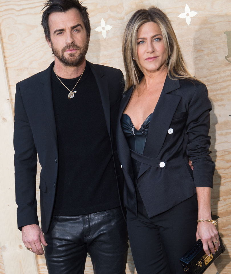 Justin and Jen Rock Matching Leather Looks In Today's Hot Photos