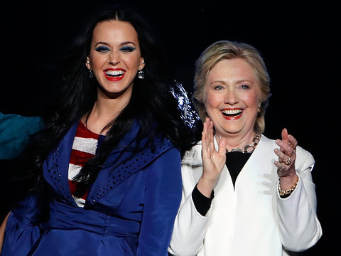 Hillary Clinton Models 'The Hillary' Pump From Katy Perry Shoe Collection (Photo)
