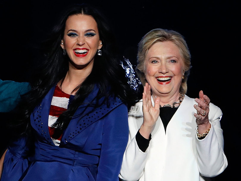 Hillary Clinton Models 'The Hillary' Pump From Katy Perry Shoe Collection…