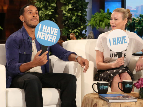 Who's In the Mile High Club? Chelsea Handler, Ludacris and Ellen Play 'Never Have I Ever'…