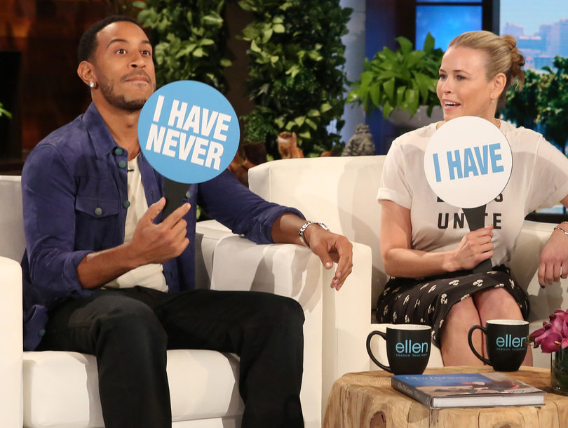 Who's In the Mile High Club? Chelsea Handler, Ludacris and Ellen Play 'Never…