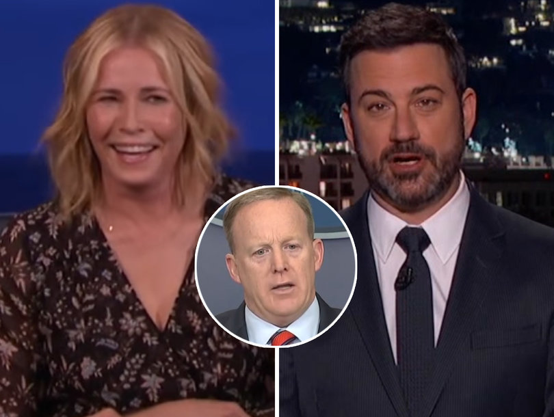 Late-Night Comedians Can't Resist Blasting 'Stupid' Sean Spicer for Hitler Gaffe (Video)