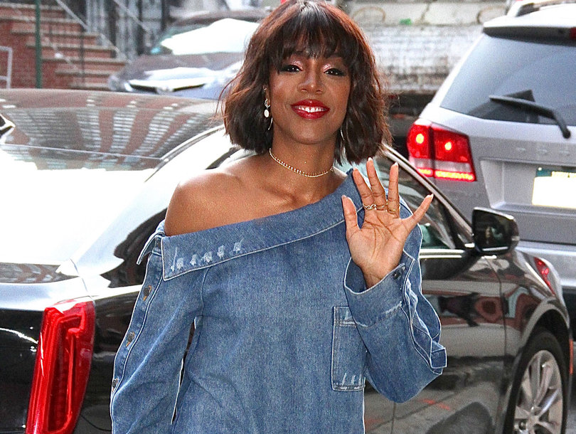 Kelly Rowland Does Denim on Denim in NYC in Today's Hot Photos