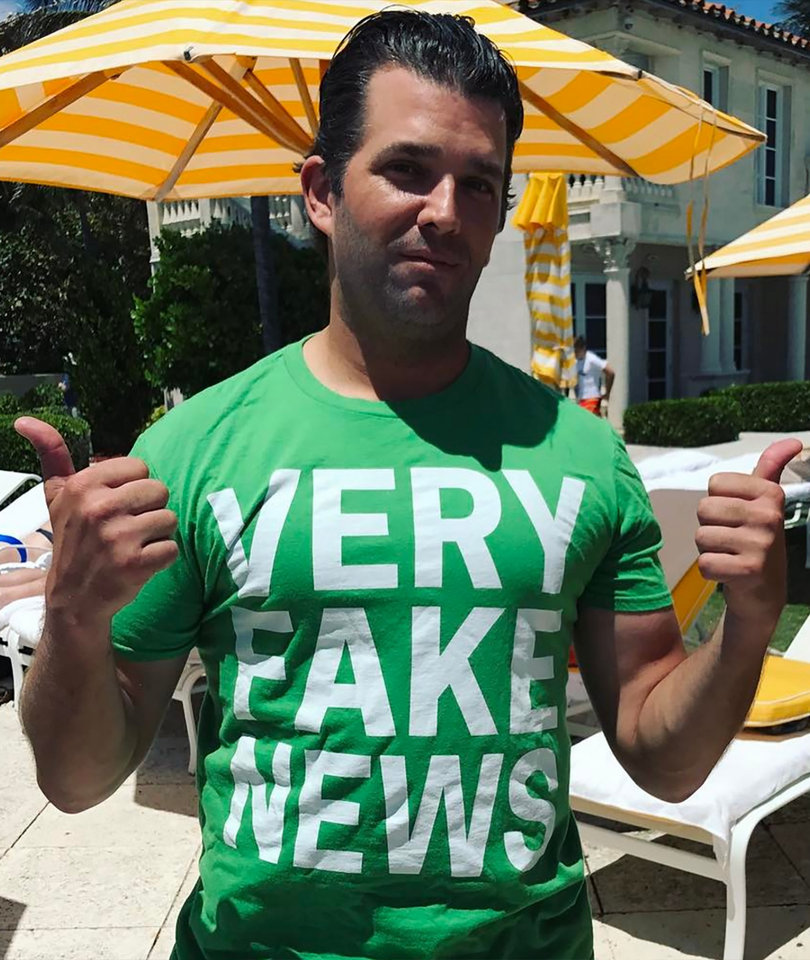 Donald Trump Jr.'s 'Very Fake News' T-Shirt Has Got Twitter's Panties in A Bunch