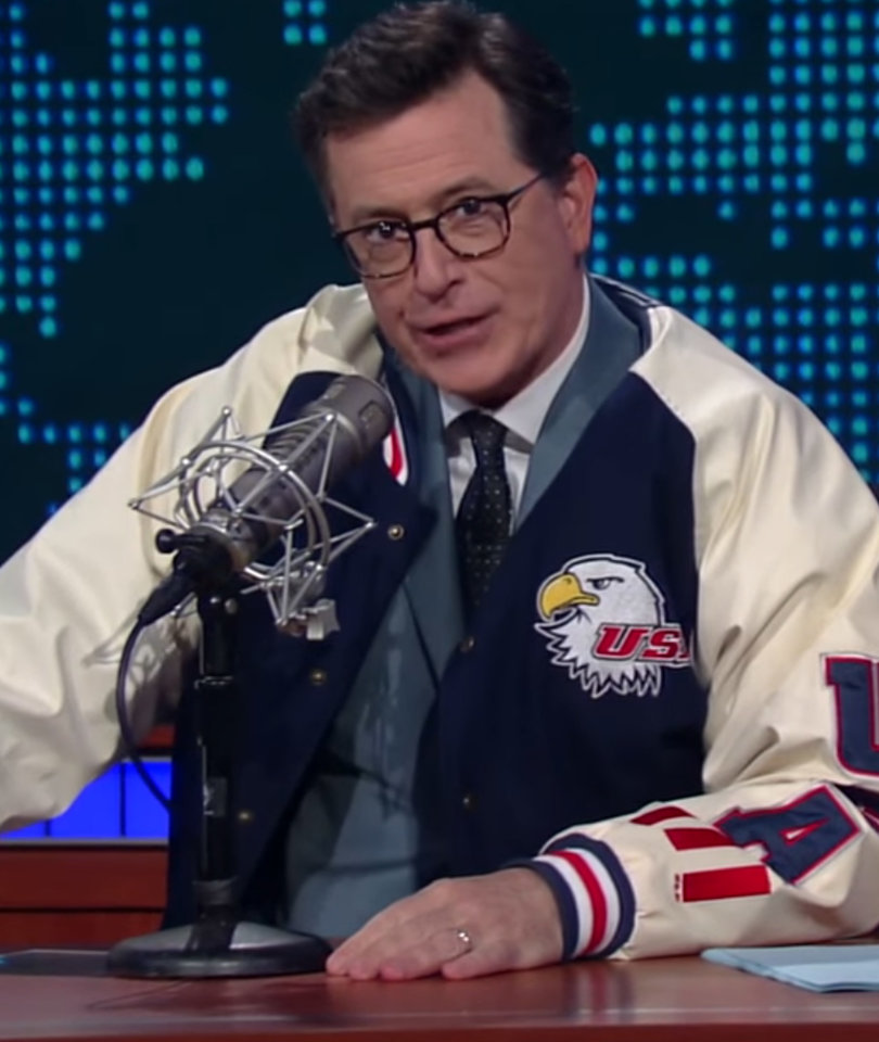 Colbert Transforms Into Parody of 'Coked-Out' Alex Jones