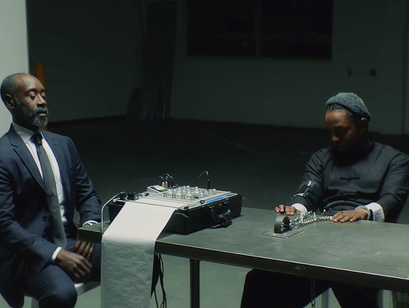 Watch Kendrick Lamar and Don Cheadle Rap Battle in Lamar's Video for 'DNA'…