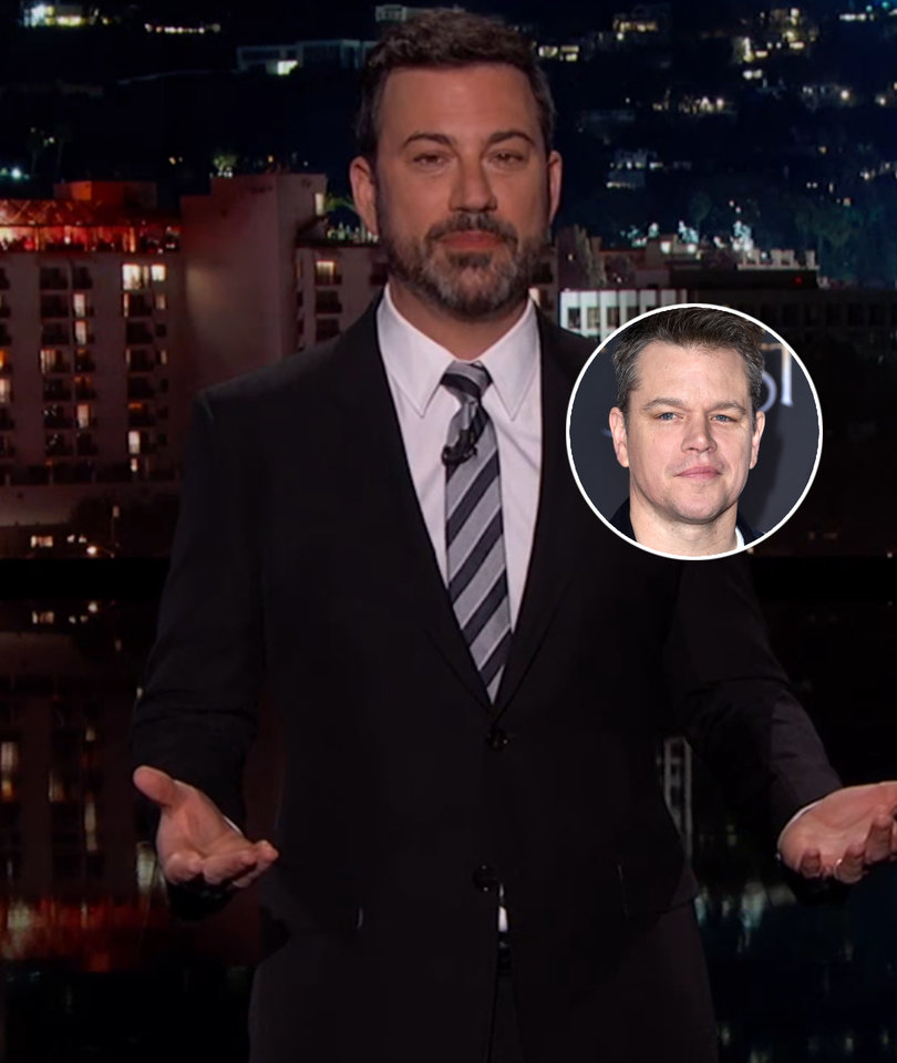 Jimmy Kimmel and Matt Damon's Feud Flies the Unfriendly Skies in United…
