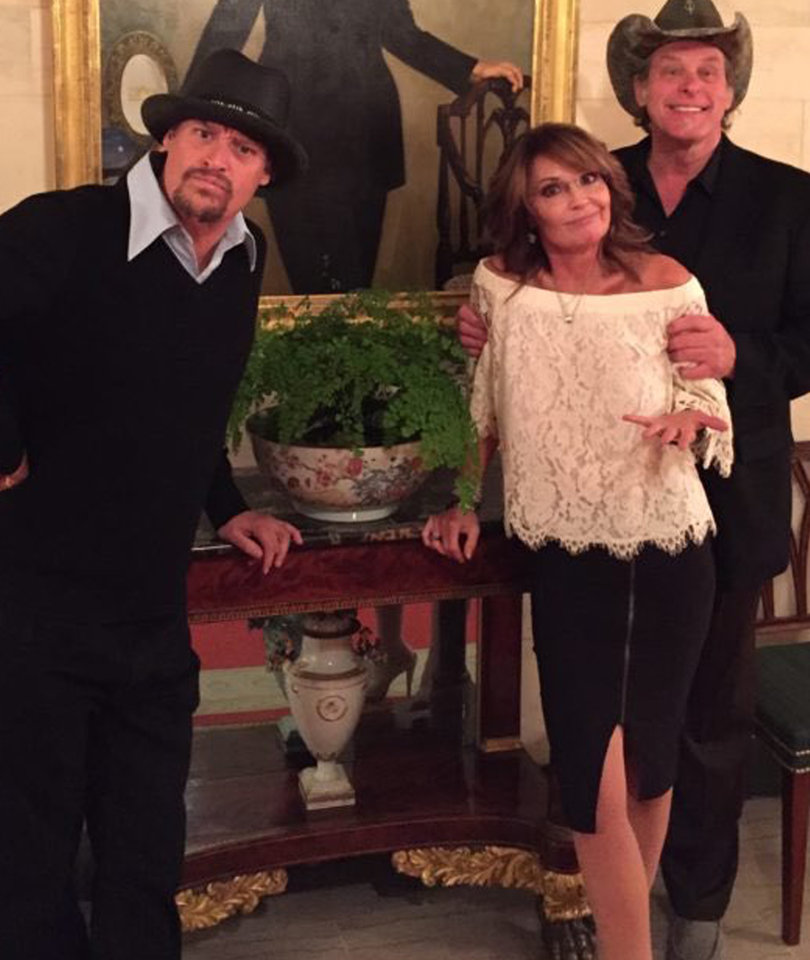 Sarah Palin, Ted Nugent and Kid Rock Visit the White House