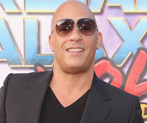 Vin Diesel Walks 'Guardians' Red Carpet with Son and Daughter