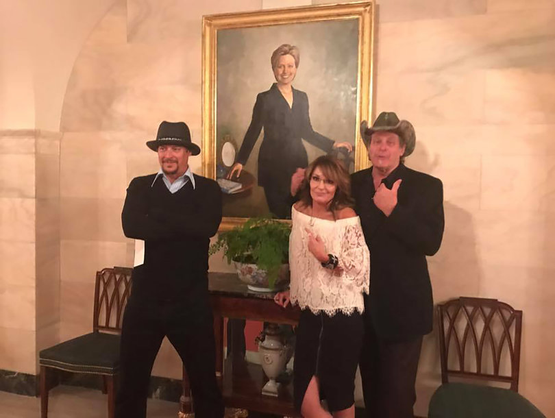 'The View' Shreds Kid Rock, Sarah Palin and Ted Nugent White House Photo as 'Offensive' and Classless (Video)