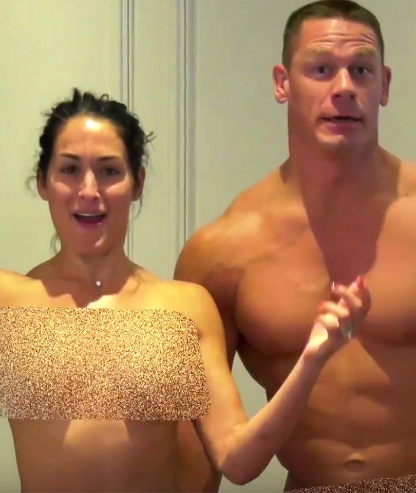 Why John Cena and Nikki Bella Stripped Naked for Fans: 'My Tube's on YouTube!'…