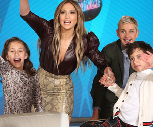J.Lo Details Meeting A-Rod on 'Ellen' As Her Kids Throw Show Into Chaos