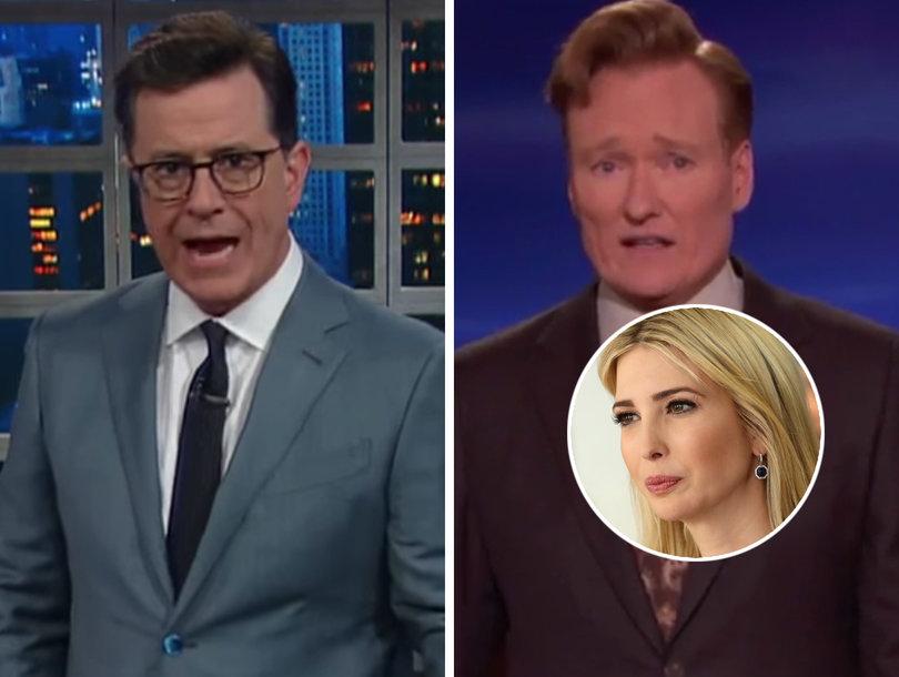 Stephen Colbert, Conan Pile on Ivanka Trump for Getting Booed in Germany (Video)