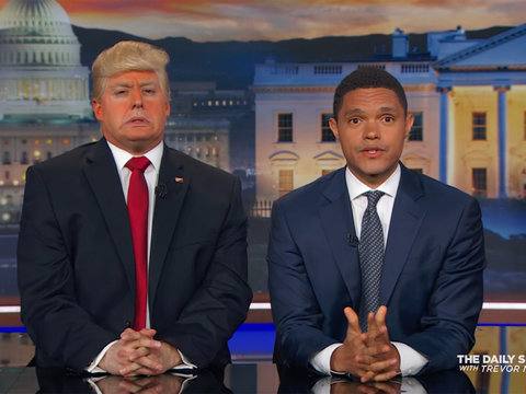 This Is What Trevor Noah Thinks About 'President Trump's' Wall And Barack Obama's Jokes…