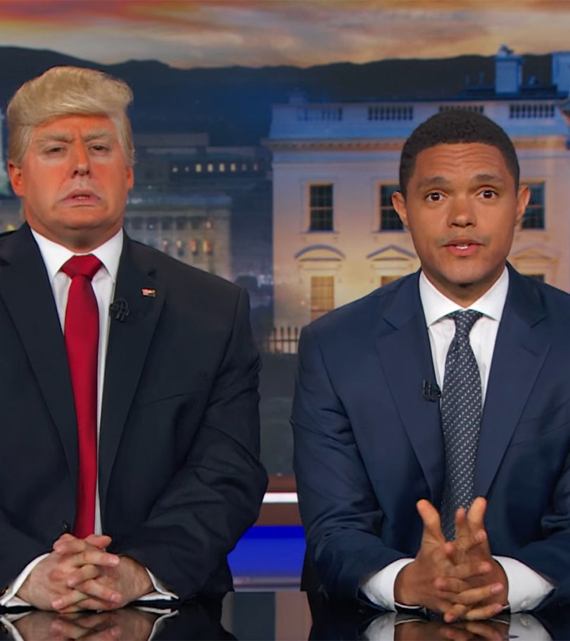 This Is What Trevor Noah Thinks About 'President Trump's' Wall And Barack…