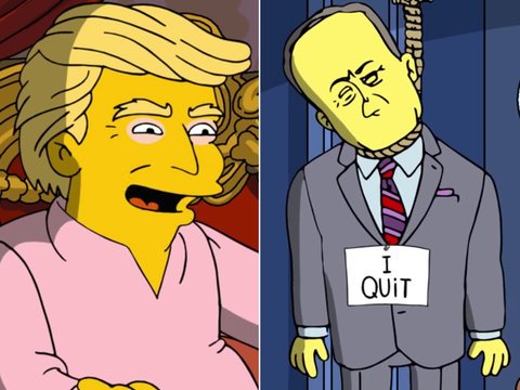 'The Simpsons' Kills Sean Spicer In Brutal Parody of Trump's First 100 Days
