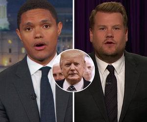 Trevor Noah and James Corden Mock Red Butler Button on Trump's Desk: 'What…