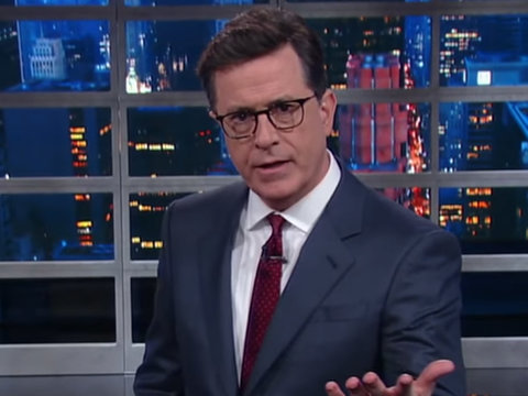 Stephen Colbert Calls Trump's Mouth 'Vladimir Putin's C--k Holster'