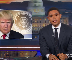 Trevor Noah Thinks the Post-100 Day Trump Smells Like 'Nepotism and Steak…