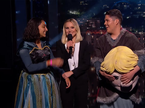 Kristen Bell Helps Teenager Pull Off 'Frozen' Promposal on 'Jimmy Kimmel Live'