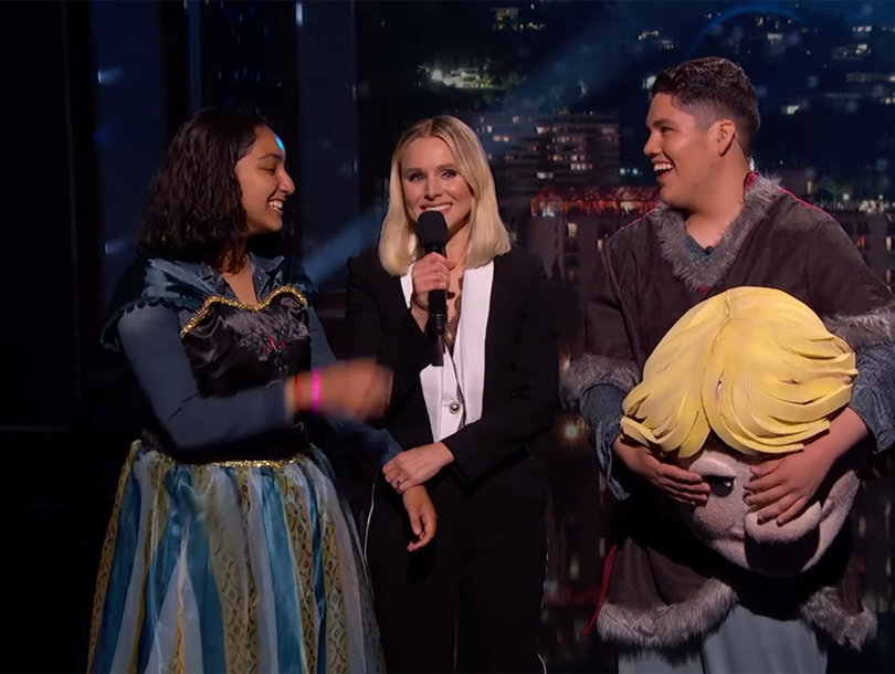 Kristen Bell Helps Teenager Pull Off 'Frozen' Promposal on 'Jimmy Kimmel Live'