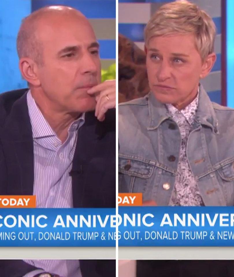 Ellen Tells Matt Lauer Why Donald Trump Is Not Welcome on Her Show