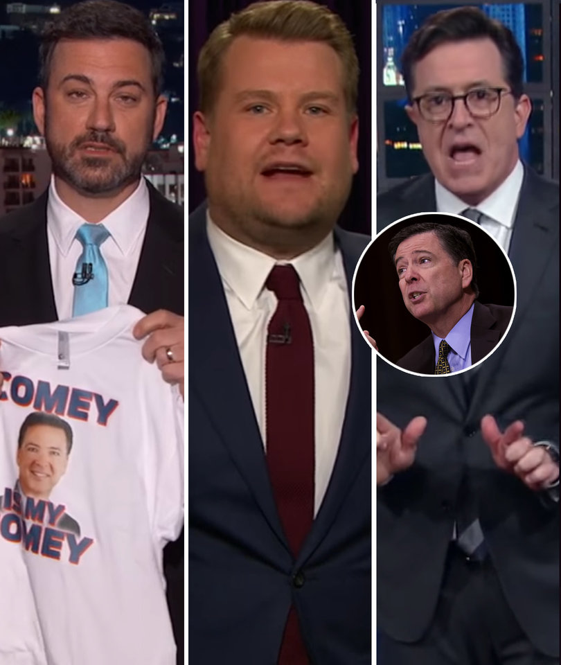 Kimmel, Colbert, Corden Pile On 'Crazy' Trump for Firing FBI Director