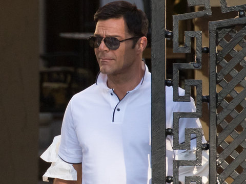 Ricky Martin Channels Versace's Lover on Set of 'American Crime Story'