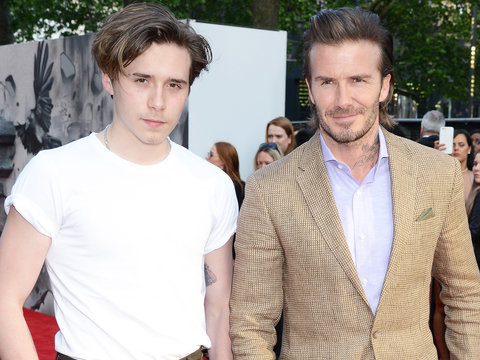 David Beckham and Son Brooklyn Attend 'King Arthur' Premiere