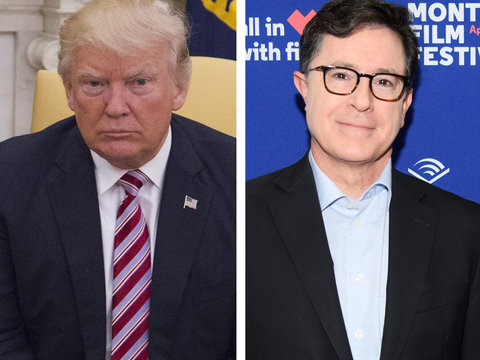 Trump Unloads on 'No-Talent' Colbert, 'Ridiculous' MSNBC and More