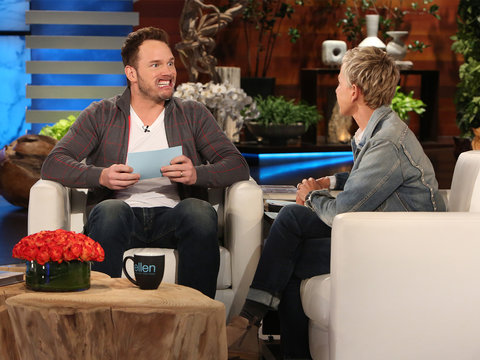 Chris Pratt Brings Ellen to Tears in Best Way Possible (Video)
