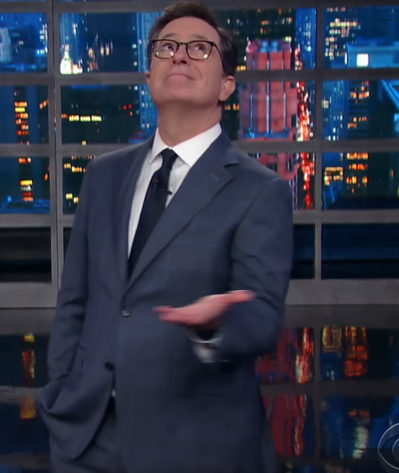 Stephen Colbert Begs Trump Not to Fire Sean Spicer