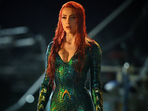 'Aquaman' Director Shares First Photo of Amber Heard on Set and It's Pure Fire
