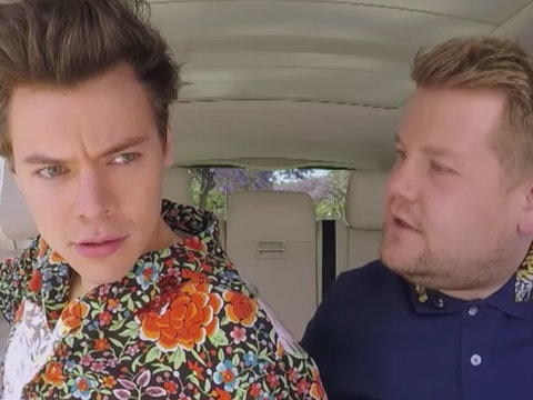 Harry Styles and James Corden Reenact 'Titanic' During 'Carpool Karaoke'