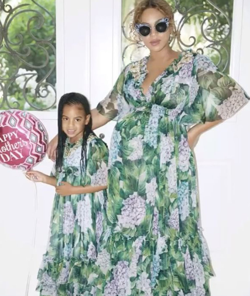 Beyonce Proudly Displays Her Big Bump In Mother's Day Photos with Blue Ivy