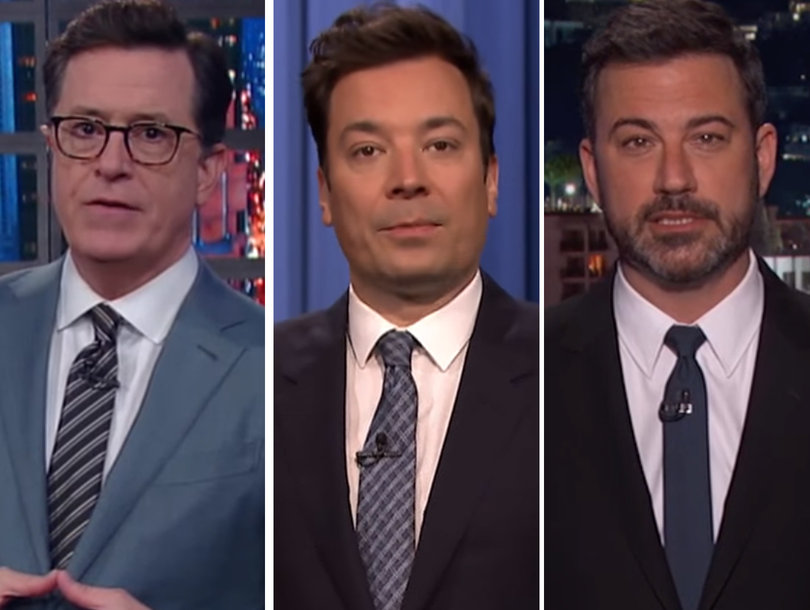 Late-Night Hosts Mock Trump's Pope Visit: 'A-Holey Day,' 'His Holiness Met His…
