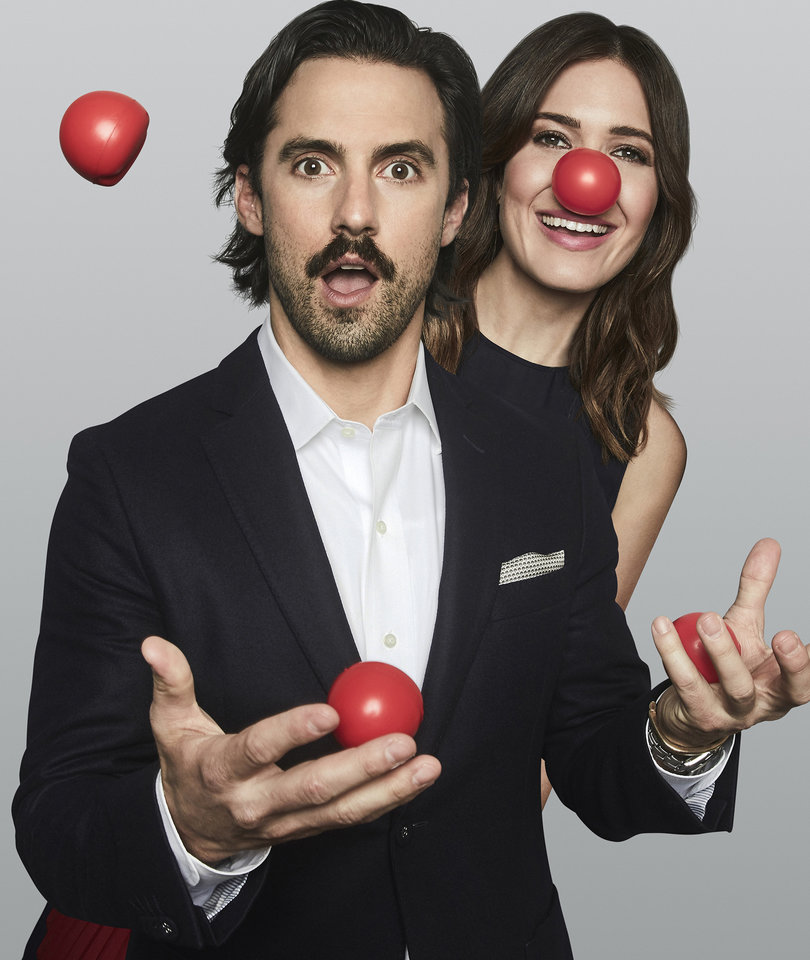 Milo Ventimiglia and Mandy Moore Look Adorable on Red Nose Day 2017