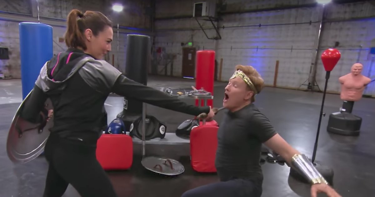 Wonder Woman Gal Gadot Beats The Crap Out Of Conan O