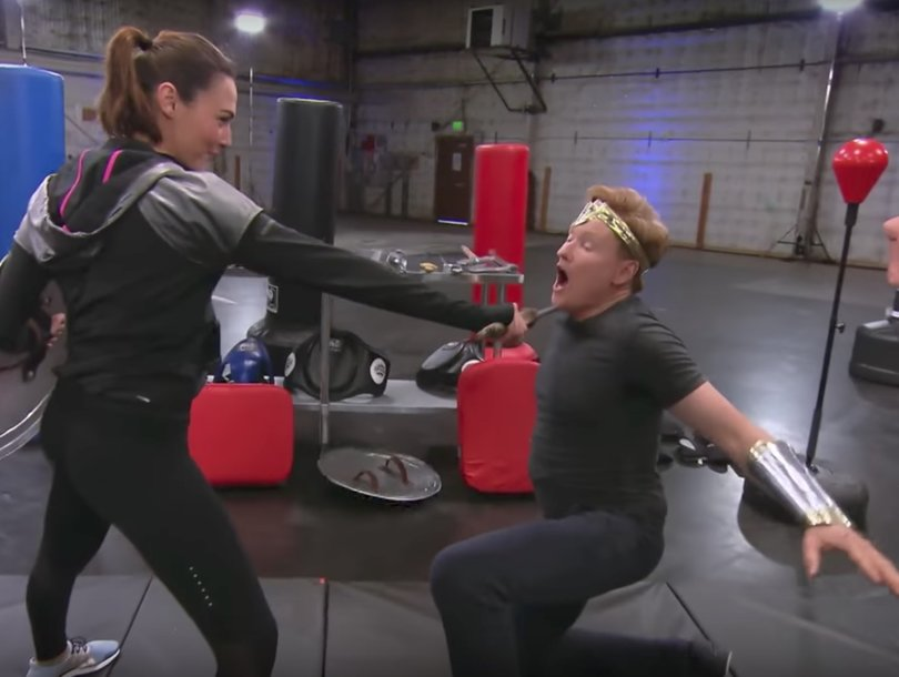 'Wonder Woman' Gal Gadot Beats the Crap Out of Conan O'Brien