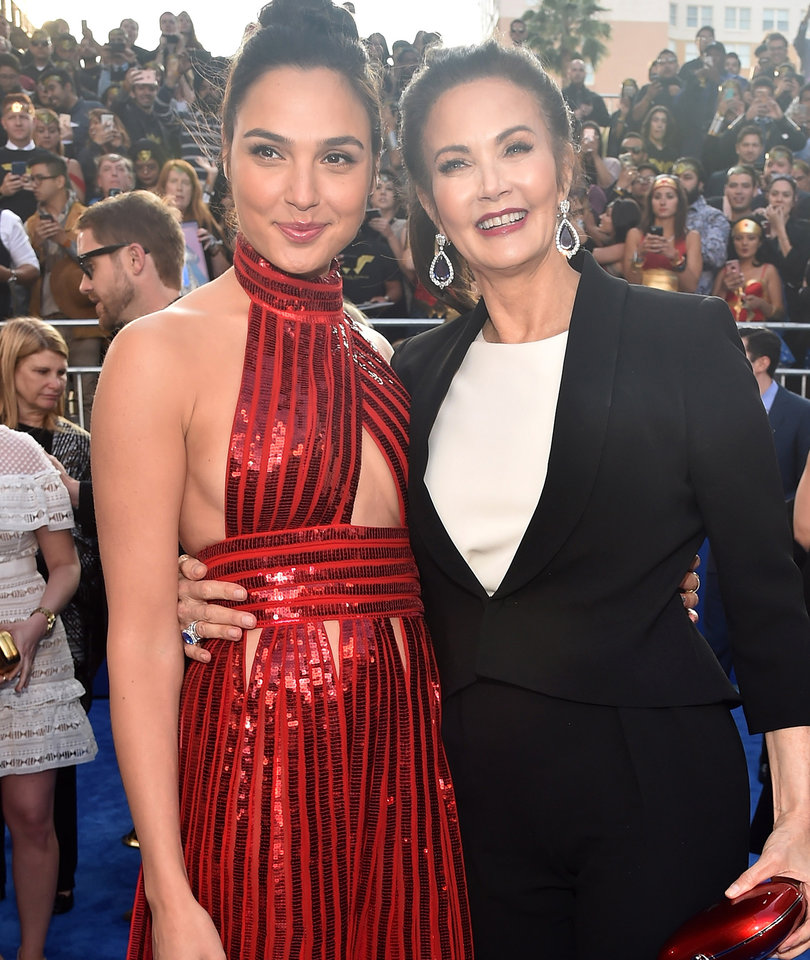 'Wonder Woman' Past and Present Unite at Film's Premiere