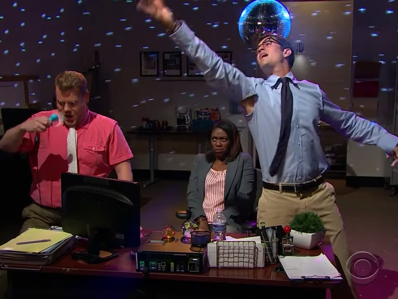 See Orlando Bloom and James Corden Show Off Their Stripper Moves (Video)