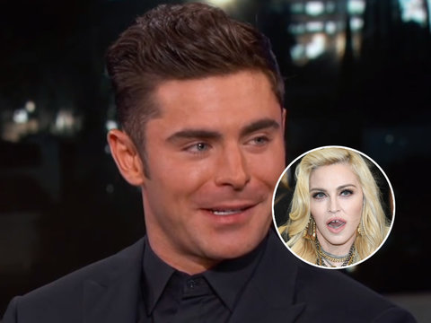 Jimmy Kimmel Grills Zac Efron on Sex With Madonna (Video)