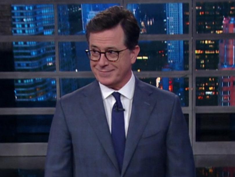 Colbert Blasts Trump For 'Alpha Male' Behavior at NATO Summit