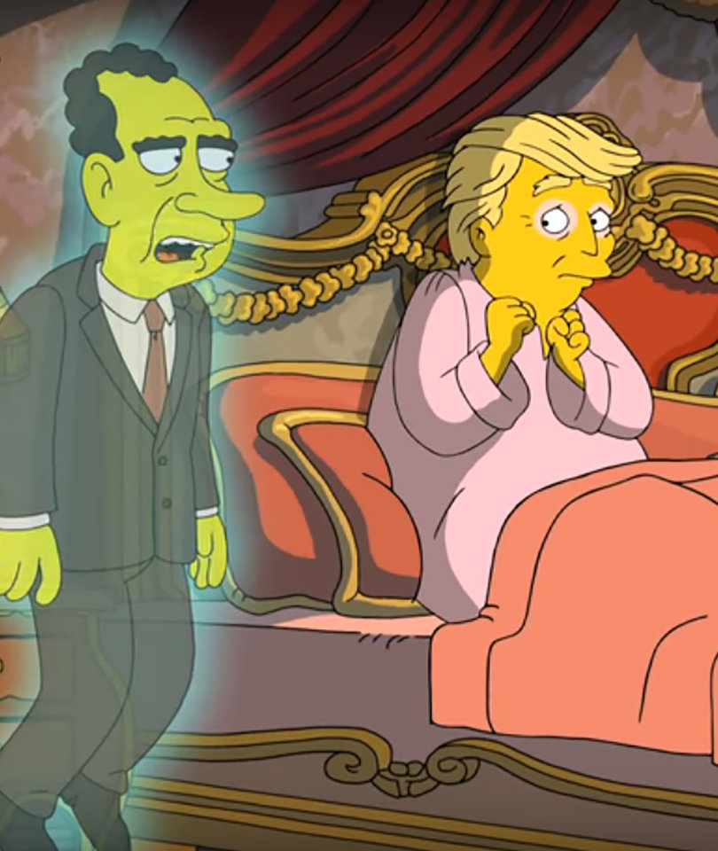 The Ghost of Nixon Haunts Donald Trump in New 'Simpsons' Parody
