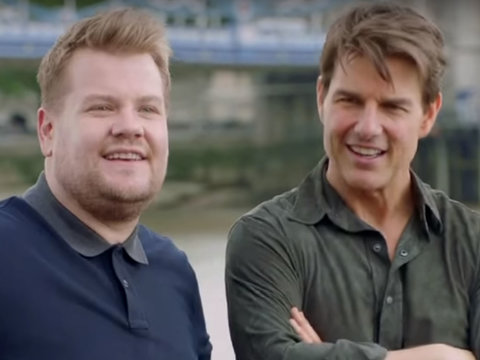 Tom Cruise and James Corden Relive the Actor's Famous Roles on Musical Cruise