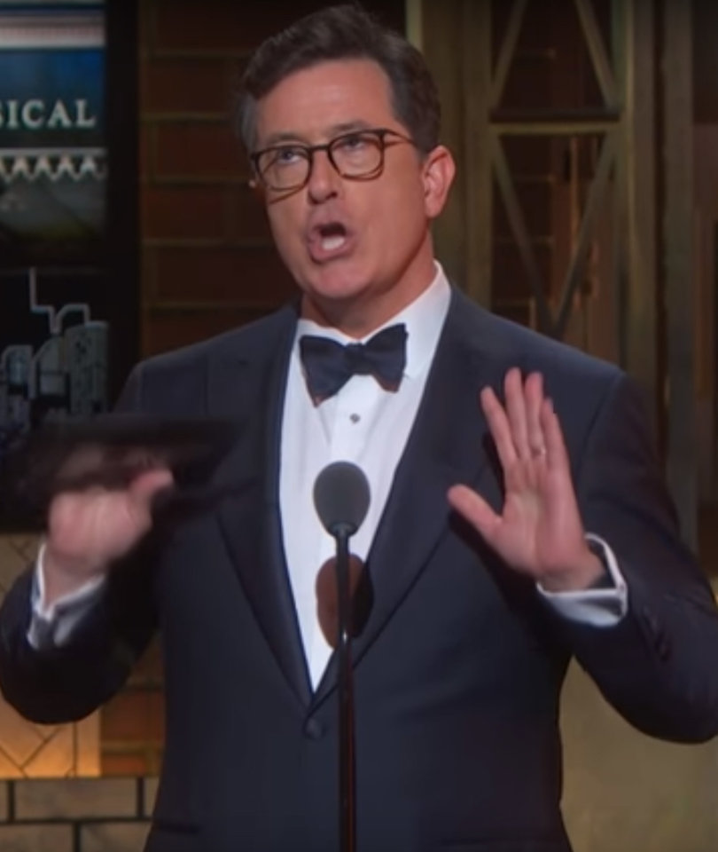 How Stephen Colbert Roasted Trump at the Tony Awards