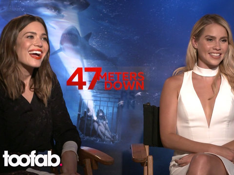 Mandy Moore and Claire Holt from '47 Meters Down' Teach the Basics of Surviving a Shark…
