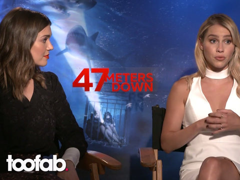 Mandy Moore and Claire Holt from '47 Meters Down' Tell TooFab How They Trained To Film…