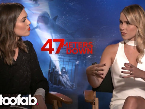 Mandy Moore and Claire Holt of '47 Meters Down' Tell TooFab How They Got All Of Their…