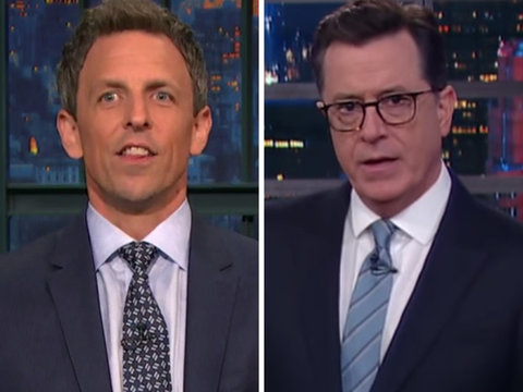 Late-Night Hosts Pounce on Trump's Cabinet for Awkward Praise of POTUS
